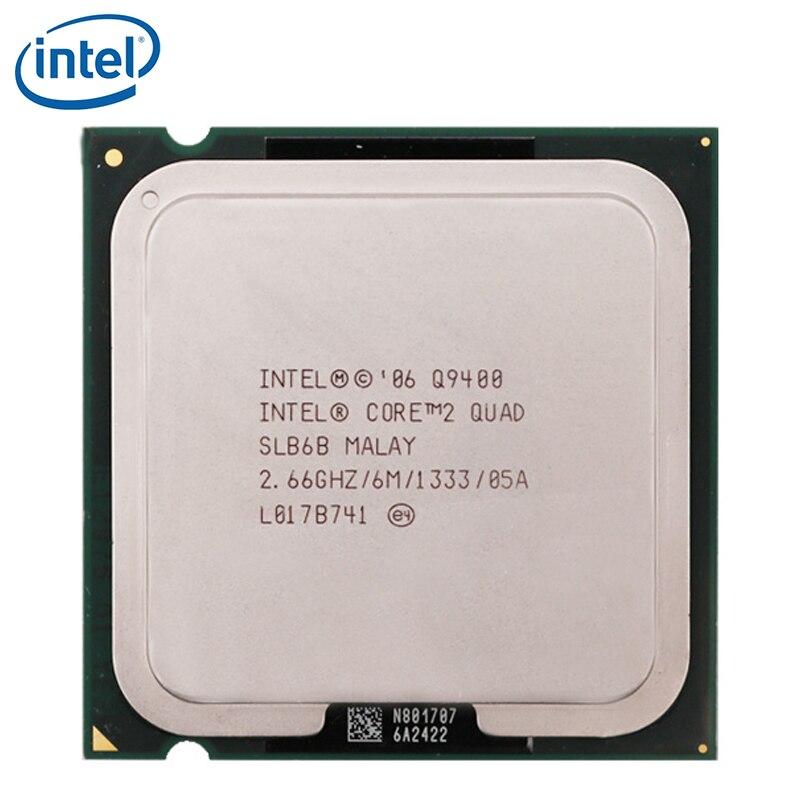INTEL CORE 2 четырехъядерный Q9400 процессор 2,66 ГГц 6 Мб Кэш L2 FSB 1333 настольный компьютер 95 Вт LGA 775 cpu протестированный 100% рабочий Процессоры      АлиЭкспресс