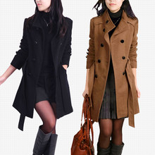 Woolen Coat Female Long Winter Coat Women Slim Coats And Jackets Women Thickening Korean Chaquetas Invierno Mujer KJ274(China)