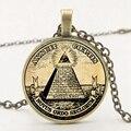Заявление Ретро символ масонов Иллюминаты античный принт иллюстрация плакат стеклянный кулон ожерелье модное ожерелье