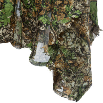 3D Hunting Clothes Camouflage Ghillie Suit Jungle Cloak Poncho Bionic Leaves Dress Hooded Ghillie Suits for Sniper Photograph 3