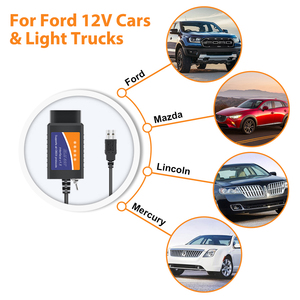 Image 2 - ELM 327 V1.5 USB ELM327 Switch per Ford Forscan ELMconfig lettore di codice OBD2 Scanner strumento diagnostico auto HS CAN MS CAN