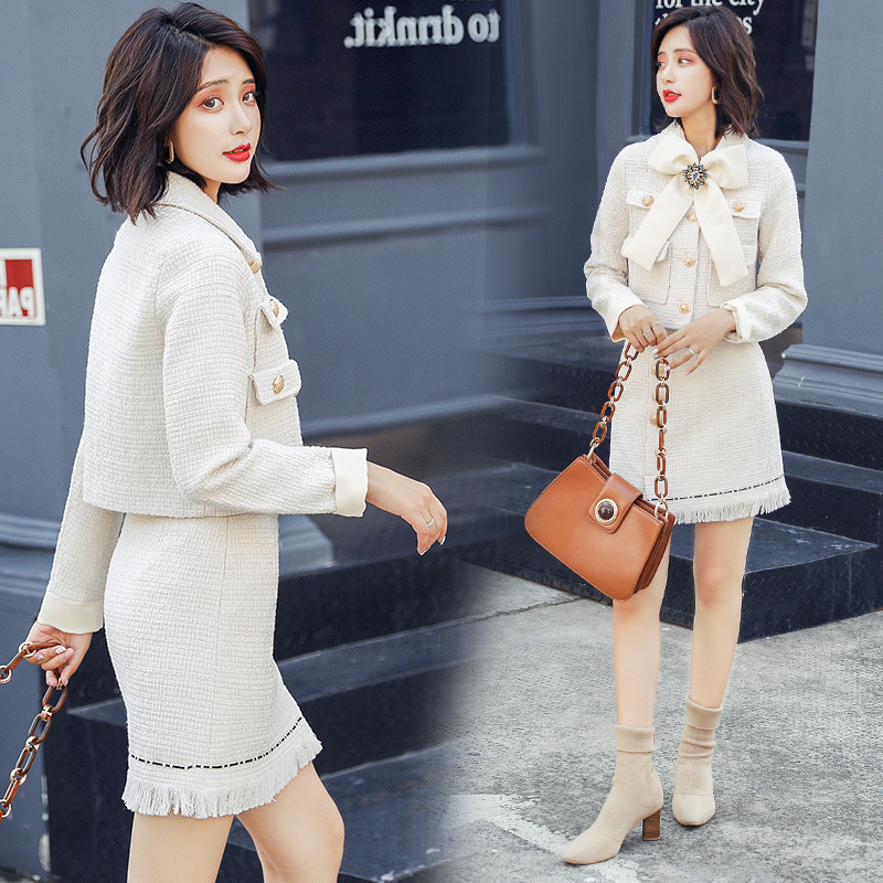 One-step Skirt Trend Joint Fashion Elegant Casual 2018 Autumn Solid Color Bow