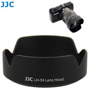 Image 1 - JJC Camera Lens Hood for Canon EF M 18 55mm Lens On Canon EOS M200 M100 M50 M10 M6 Mark II M5 M3 Replaces Canon EW 54 Lens Shade