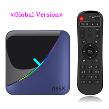 A95X F3 Smart TV Box RGB Licht Android 9,0 Amlogic S905X3 4G 32G 64G Wifi BT Set top Box Youtube 8 K 4 K Media Player
