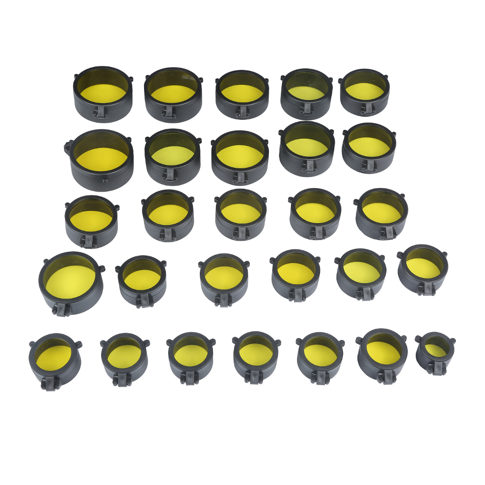 1pc Yellow Sight Quick Flip Spring Up Open Lens Cover Cap For Caliber Hunting Scope Mounts Rifles Red Laser 28 Different Sizes