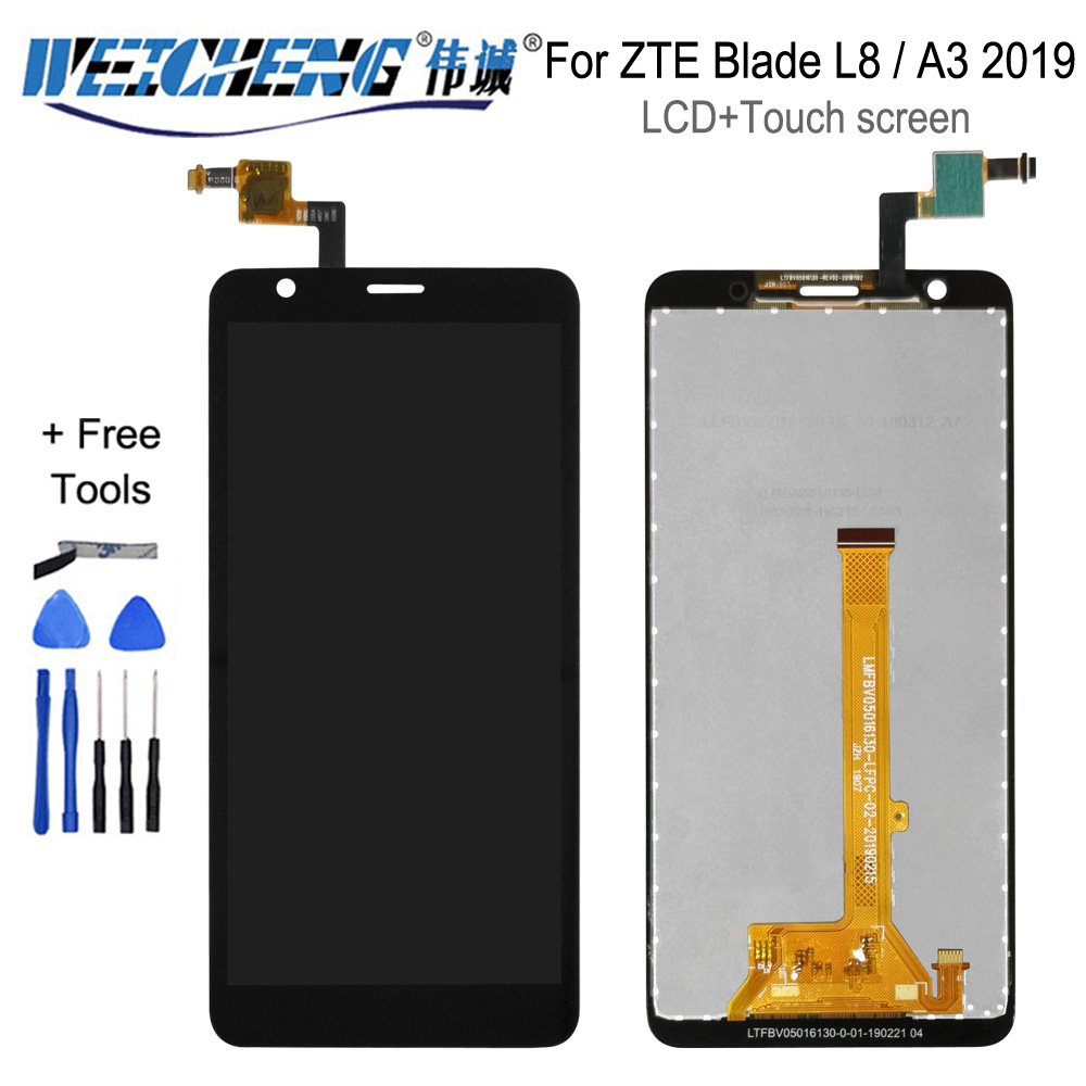 5.0''For ZTE Blade L8 / A3 2019 LCD Touch Screen Panel Glass Display Digitizer Panel Glass Assembly Parts For ZTE A3 2019