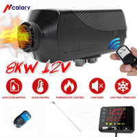 Car heater 1-8KW adjustable 12V air diesel heater  LCD display + remote control for RV boat trailer car