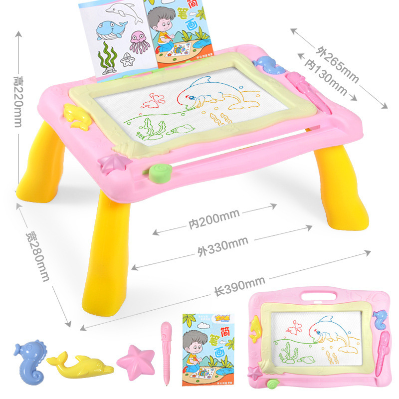 Children Magnetic Hua Ban Zhuo Infants Color Hand Drawing Board Graffiti Painted Writing Board Learning Supplies Gift
