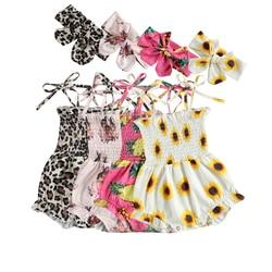 FOCUSNORM 4 цвета детские комбинезоны для маленьких мальчиков и девочек; С леопардовым принтом; Женские босоножки с цветочным рисунком; С принто...