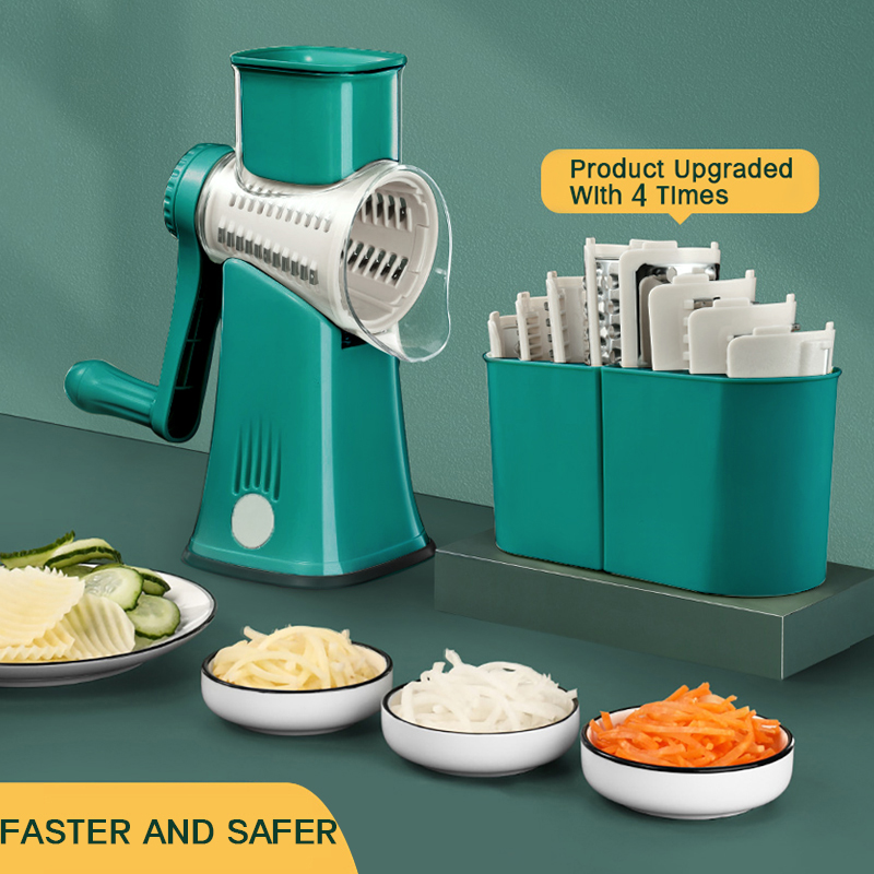 Kitchen Machine Vegetable Cutter Manual Vegetable Slicer Potato Graters Rotary Slicer Spiralizer Shredder Kitchen Gadgets Tools