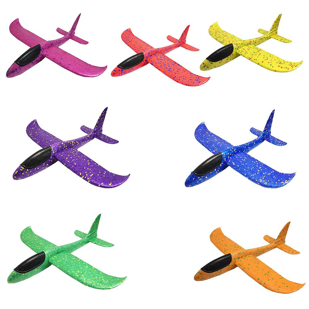 Hand Throw Flying Glider Planes Foam Aircraft Model EPP Resistant Breakout Aircraft Party Game Children Outdoor Fun Gift Toys