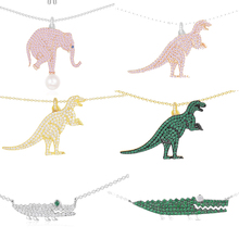 Kelley high quality 925 sterling silver necklace A dinosaur crocodile shape PM brand design Monaco style ladies fashion jewelry