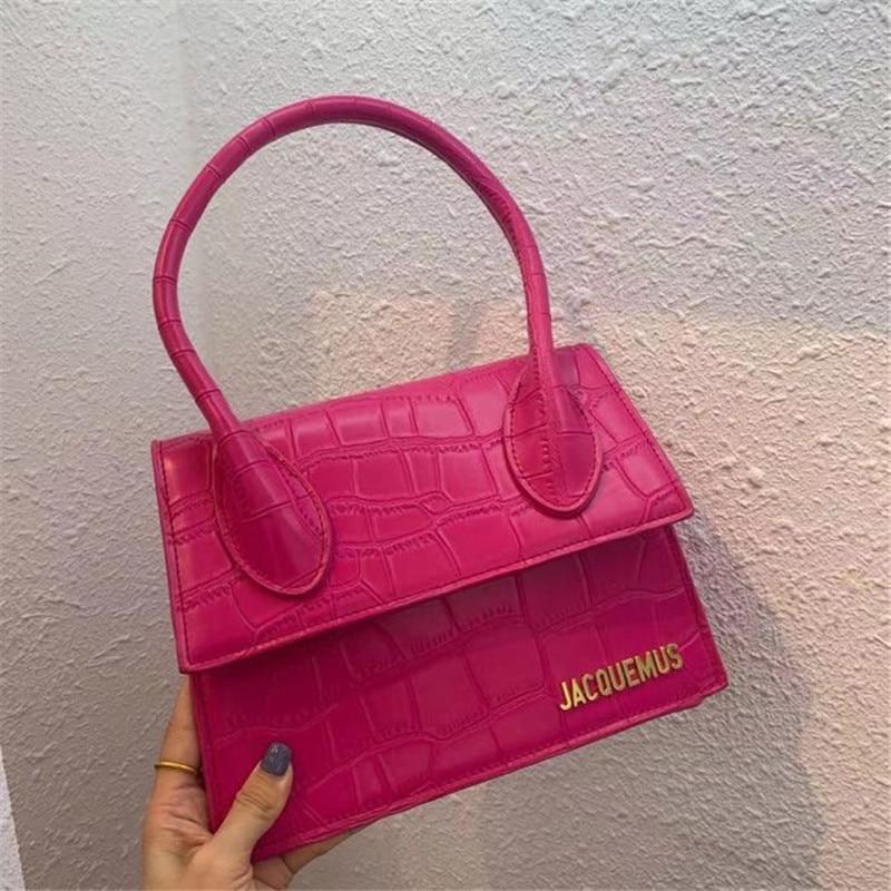 Luxury Design Alligator Jacquemus Hand Bags Women 2020 Crossbody Bags Fashion Crocodile Pattern PU Leather Handbags Purses Bolsa