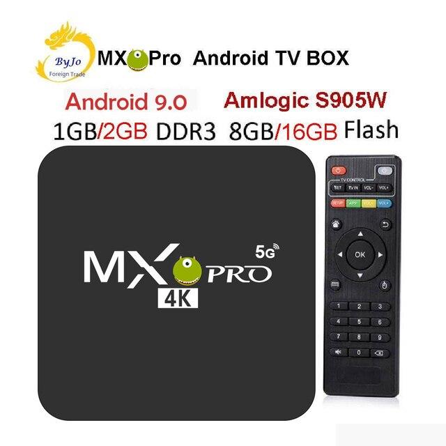 MX Pro 4 4K テレビボックス Amlogic S905W クアッドコア 1 グラム 8 グラムまたは 2 グラム 16 グラムアンドロイド 7.1 超 4 18K ストリーミング IPTV 4 18K ボックススマートテレビメディアプレーヤー再生
