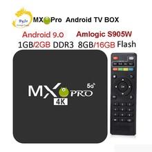 MX Pro 4K TV Box Amlogic S905W Quad Core 1G 8G oder 2G 16G Android 7.1 ultra 4K Streaming IPTV 4K box Smart TV Media Player Spielen