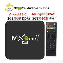 MX Pro 4K TV Box Amlogic S905W Quad Core 1G 8G or 2G 16G Android 9.0 Ultra 4K Streaming 4K box Smart TV Media Player Play