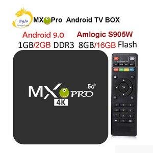 Image 1 - MX Pro 4K TV Box Amlogic S905W Quad Core 1G 8G or 2G 16G Android 9.0 Ultra 4K Streaming 4K box Smart TV Media Player Play