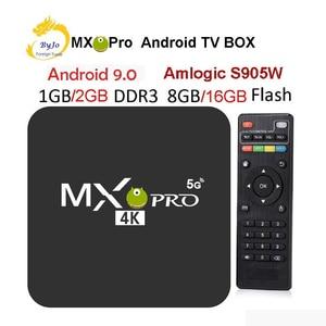 Image 1 - MX Pro 4K TV kutusu Amlogic S905W dört çekirdekli 1G 8G veya 2G 16G Android 7.1 Ultra 4K akışı IPTV 4K kutusu akıllı TV medya oynatıcı oyun