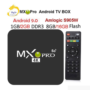 Image 1 - MX Pro decodificador de TV 4K, Amlogic S905W, Quad Core, 1G, 8G O 2G, 16G, Android 9,0, Ultra 4K, reproductor multimedia de TV inteligente en 4K