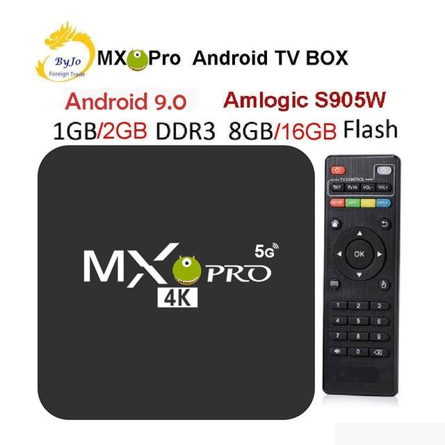 MX Pro decodificador de TV 4K, Amlogic S905W, Quad Core, 1G, 8G O 2G, 16G, Android 9,0, Ultra 4K, reproductor multimedia de TV inteligente en 4K