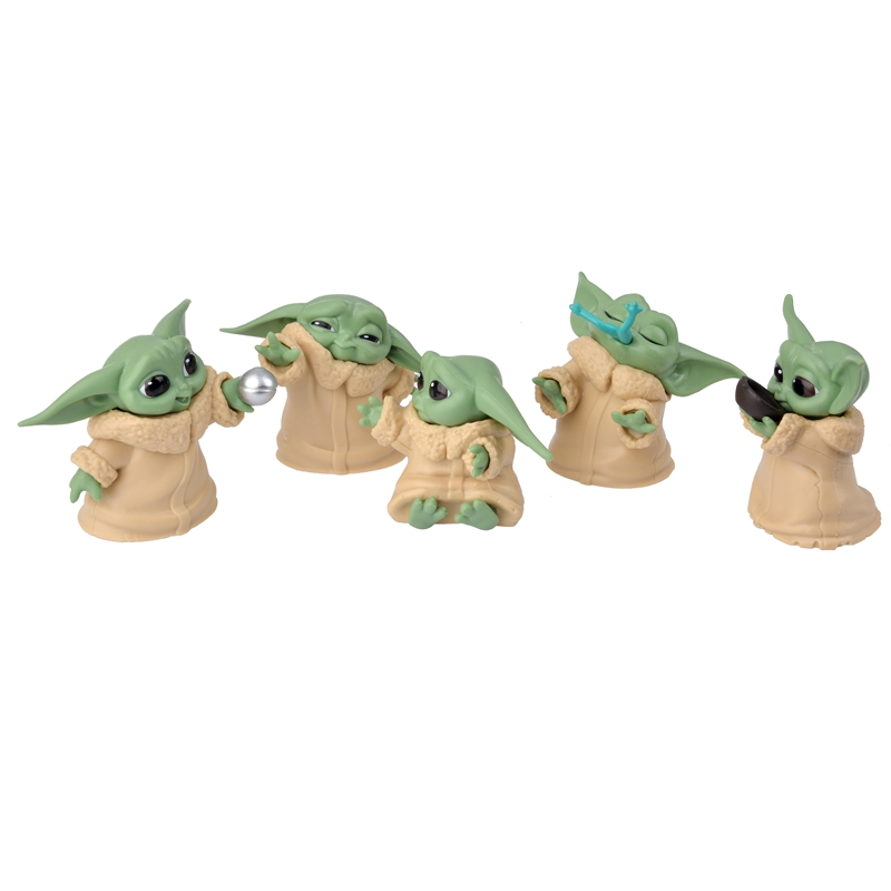 Hot Sale Animal 5Pcs Set Star Wars Baby Yoda Collection Action Figure Toys For Children s