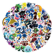 Hedgehog Stickers Sonic Cute Cartoon 100pcs for Phone Luggage Scooter Laptop Water-Cup