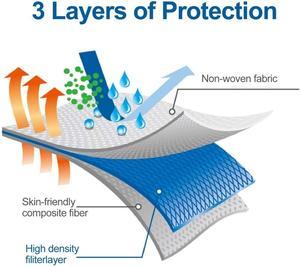 Image 2 - Masques jetables de bouche de visage 3 couches filtre protecteur masque anti poussière Non tissé de respirateur de contour doreille