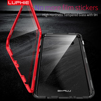 case samsung galaxy 360 Magnetic Double Tempered Glass Case for Samsung Galaxy S10 S9 Plus S10plus S8 Magnet Flip Cover for Samsung Note 10 10+ 9 8 (2)