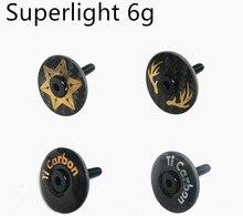 цена на Superlight 6g Bicycle Stem full carbon Top Cap with Ti Screw For 28.6mm 1 1/8 Steerer Fork Tube Headset Cap
