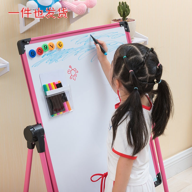 Young Magnetic Small Blackboard Children Painting Hanging Braced Sketchpad Alloy Baby Learn Have Whiteboard Pen Wipable Easel