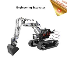 Original Xiaomi Building Block Engineering Excavator Machinery Simulation Console High precision Blocks Vehicle Gift For Kids