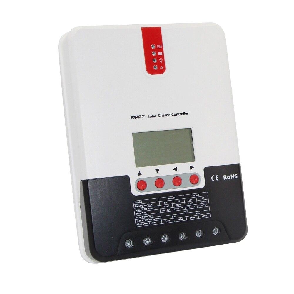 1 sztuk 20A Panel słoneczny MPPT Regulator ładowania słonecznego ładowarka solarna Regulator MPPT SRNE Shuori ML2420 kontroler słoneczny gorąca sprzedaż