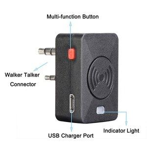 Image 3 - Baofeng walkie talkie PTT inalámbrico con Bluetooth, auriculares tipo K de Radio bidireccional, micrófono