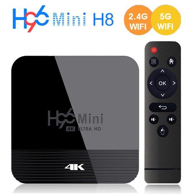 Android TV Box 9.0 H96 Mini H8 RK3228A 2.4G/5G Dual WIFI Media Player BT4.0 1GB 8GB 2GB 16GB Smart TV Box Set Top Box