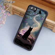 MaiYaCa Black cat magic witch stars Phone Case Cover For iPhone 5 6s 7 8 plus 11 pro X XR XS max Samsung S6 S7 S8 S9 S10 plus(China)