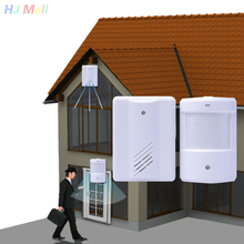 лучшая цена Wireless Infrared Sensor Motion Detector Shop Entry Door Bell Welcome Chime