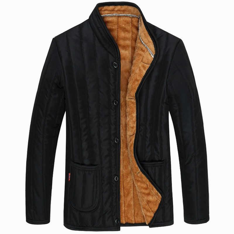W średnim wieku i starych męska bawełniana kurtka, dół