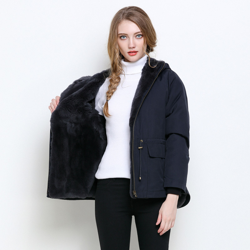 Rabbit Natural Fur Parka Real Fur Coat Winter Jacket Women Luxury Warm Fur Jackets For Women Clothes 2020 Veste Femme MY S