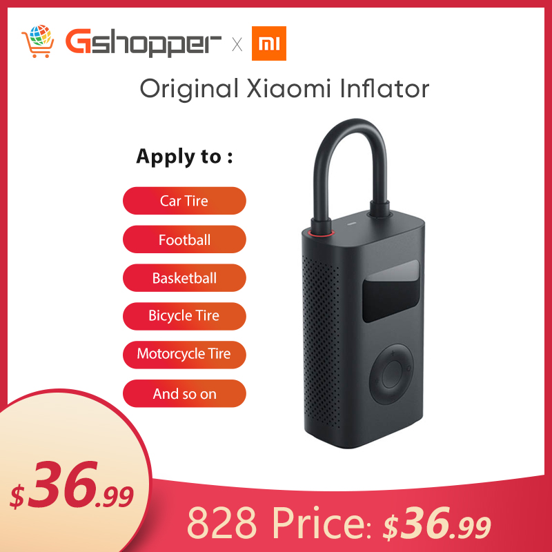 Original Xiaomi Smart Inflator For Bicycle Motorcycle Car Tire Ball Portable Mini Electric Pump Mini LED  Smart Digital Pressure|Bicycle Pumps|   - AliExpress