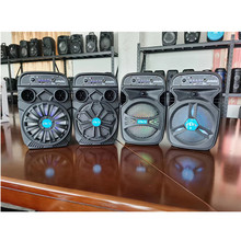 6.5″ Portable Audio Active Speakers Built-in Li Battery Bluetooth Microphone Colorful Lights Small Mobile Subwoofer Home Outdoor