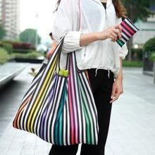 Unisex Foldable Handy Shopping Bag Reusable Tote Pouch Recycle Waterproof Storage Handbags Sample Travel 300D Eco