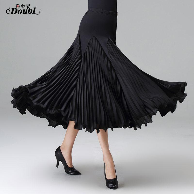 DOUBL Skirt Dancewear Tango Waltz Foxtrot Practise Evening-Party Workout Elegant Large
