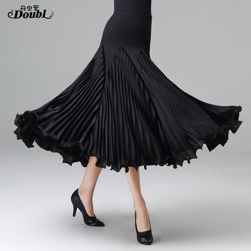 DOUBL Ballroom Dance Large Skirt Waltz Tango Waltz Foxtrot Elegant Evening Party Stage Performance Dancewear Practise Workout