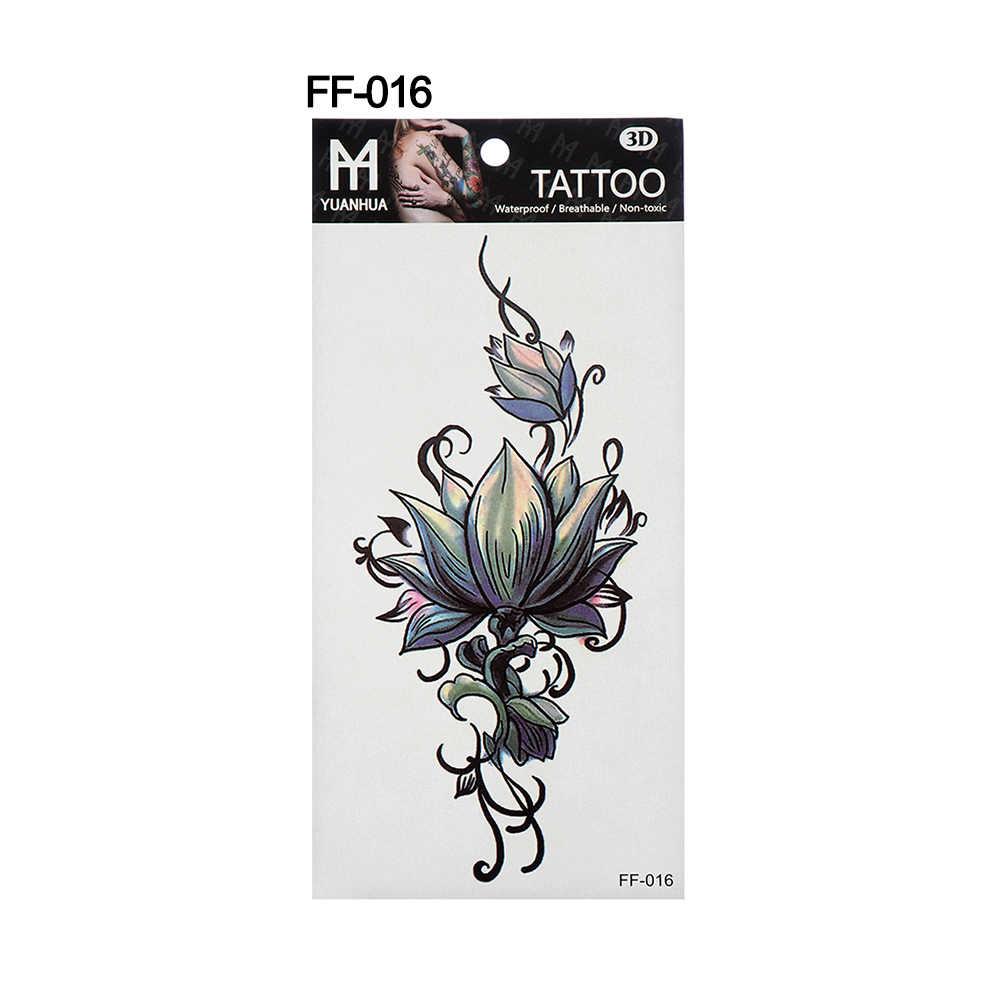 19cm x 9cm Temporárias Tatuagem Adesivos Decalque de Corpo Inteiro Flor Braço Perna Arte de Longa Duração À Prova D' Água Unisex Tatuagem Falsa hallowen