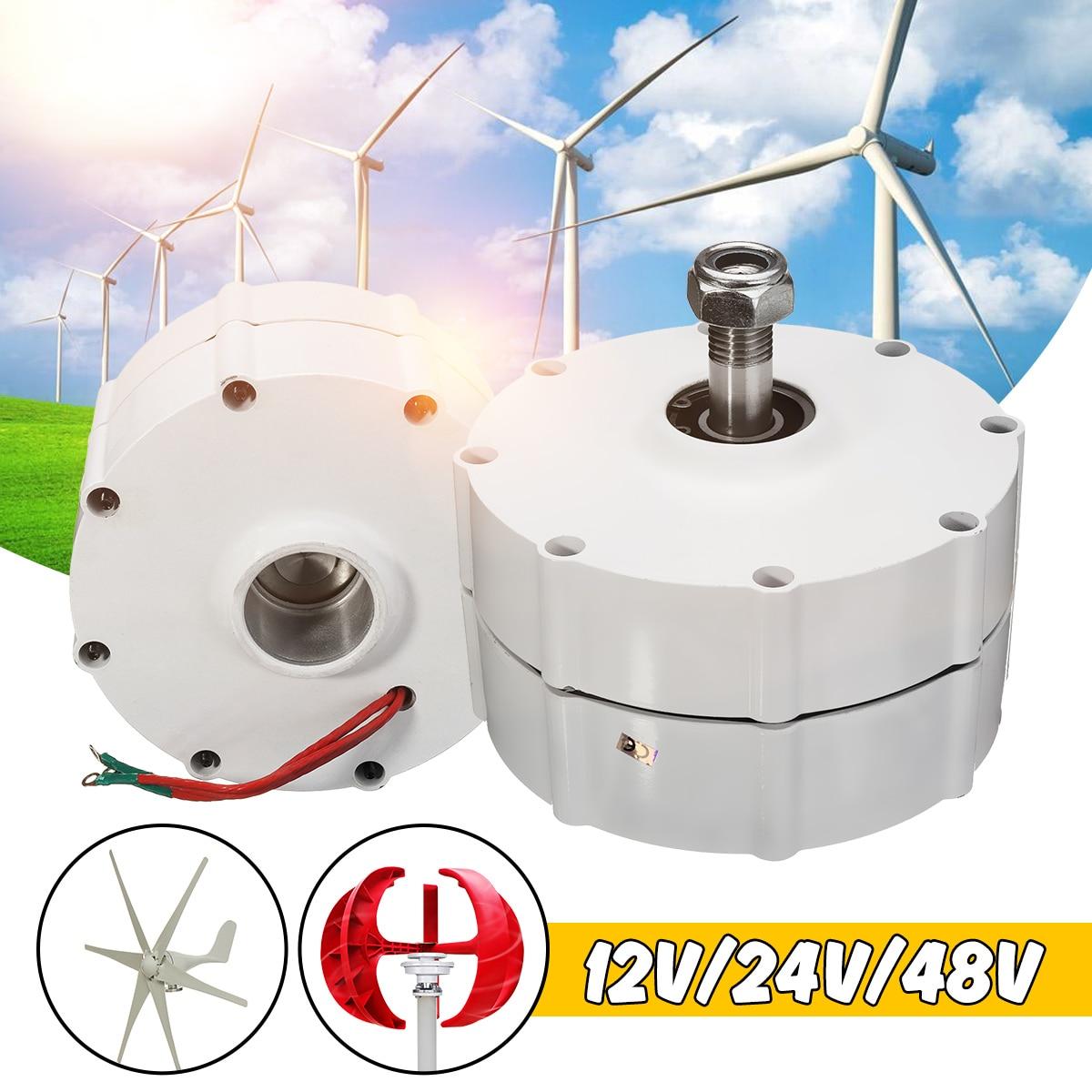 800W 12V 24V 48V Wind Generator Motor Permanent Magnet Generator Motor For Wind Turbines Blade Controller 3 Phase Current PMSG