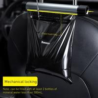 Baseus Car Rear Seat Back Trash Bag Metal Auto Organizer Storage Garbage Bags for Headrest Back Seat Car Accessories