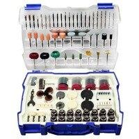 268 pçs mini broca conjunto de ferramentas abrasivas moagem lixar polimento ferramenta de corte kit para dremel acessórios conjunto Moedores     -