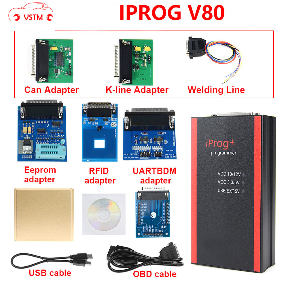 V80 Iprog+ Iprog Pro Programmer Support IMMO + Mileage Correction + Airbag Reset Till The Year 2019 Replace Carprog Full