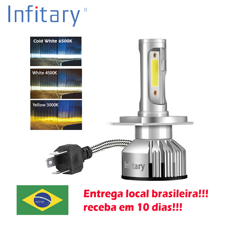 Infitary H4 H7 Led Car Headlights Bulbs Waterproof 10000Lm H1 H3 H11 H13 9005 9006 3000K 4500K 6500K 12V Fog lights Auto Lamp title=