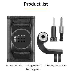 Image 4 - Quay 360 Độ Ba Lô Kẹp Gắn Cho GoPro Hero 8 7 6 5 4 dành cho Đi Pro Thể Thao Xiaomi máy Quay hành động Phụ Kiện